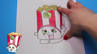"How to Draw Shopkins Season 2 ""Poppy Corn"" Step By Step Easy 