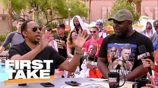 Stephen A. loses it over Tony Romo's son's name | First Take | ESPN
