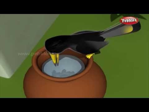 The Thirsty Crow  हुशार कावळा  3D Grandma Stories in Marathi  3D Moral Stories in Marathi