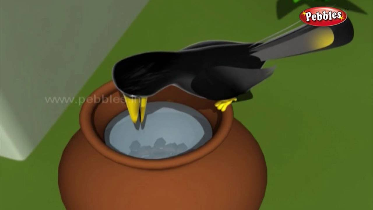 The Thirsty Crow | हुशार कावळा | 3D Grandma Stories in Marathi | 3D Moral  Stories in Marathi