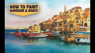 How to paint a Harbour and boats
