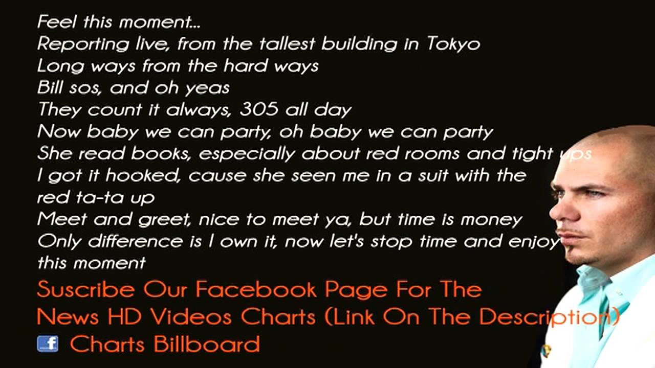 Lyrics Pitbull Ft Christina Aguilera Feel This Moment Lyrics
