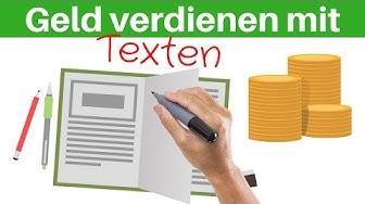 GELD VERDIENEN MIT TEXTEN - Selbstständig ein Einkommen aufbauen mit dem Schreiben von Texten
