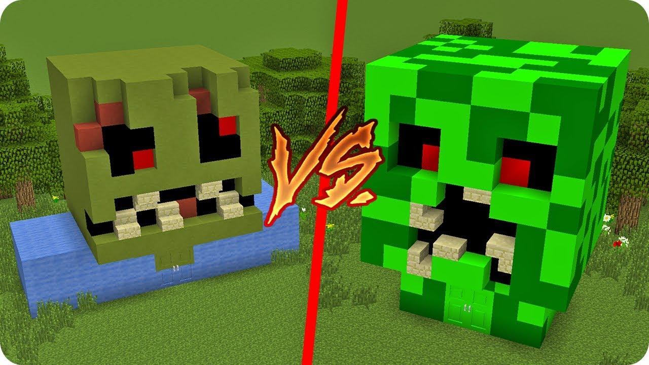 Casa de zombie mutante vs casa de creeper mutante en - Minecraft zombie vs creeper ...