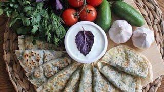 Азербайджанская кухня. Кутабы с Бараниной и Гранатом.