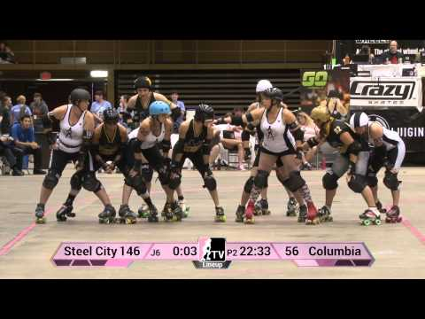Columbia QuadSquad v Steel City Roller Derby: 2013 WFTDA D1 Playoffs in Asheville
