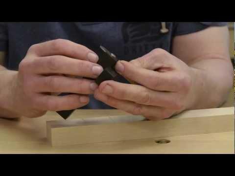Hinge fitting using David Barrons cutting gauge