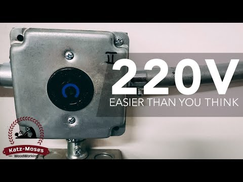 Installing 220v Outlets in the Shop - Easier Than You Thought