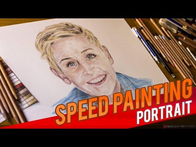 Drawing Ellen DeGeneres [Speed painting]