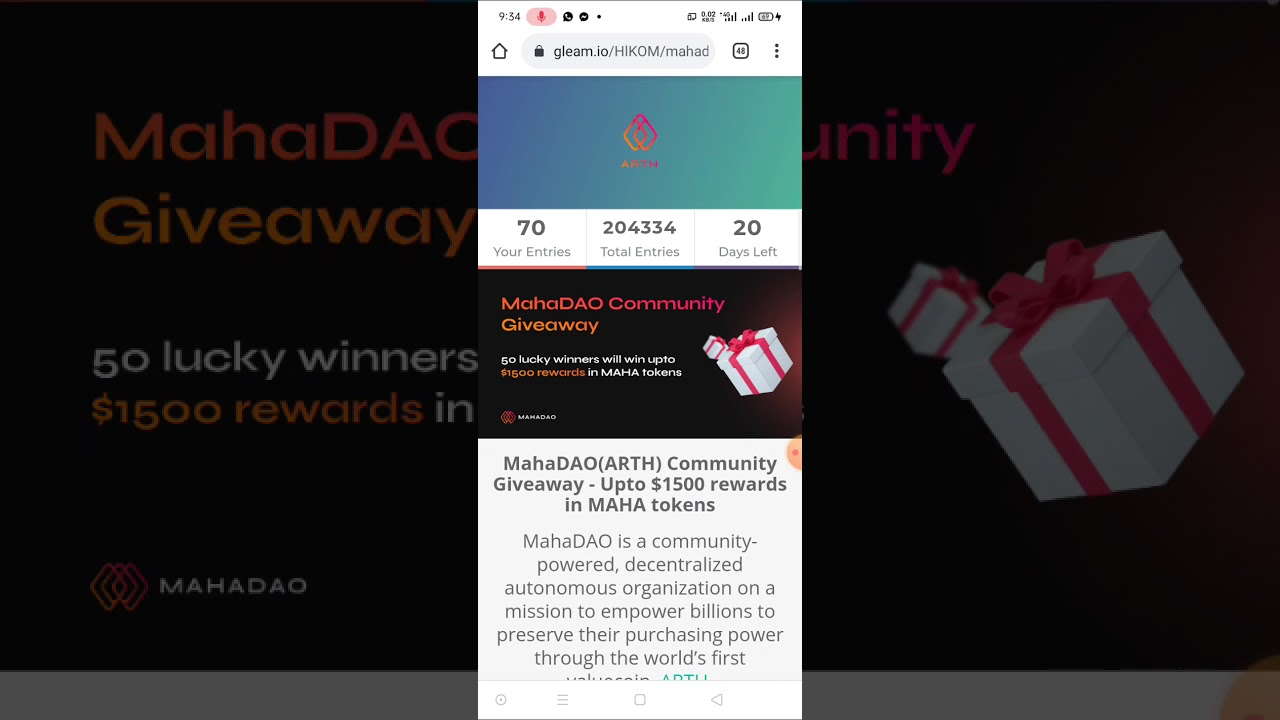 Join Maha Dao Community and earn enough coin