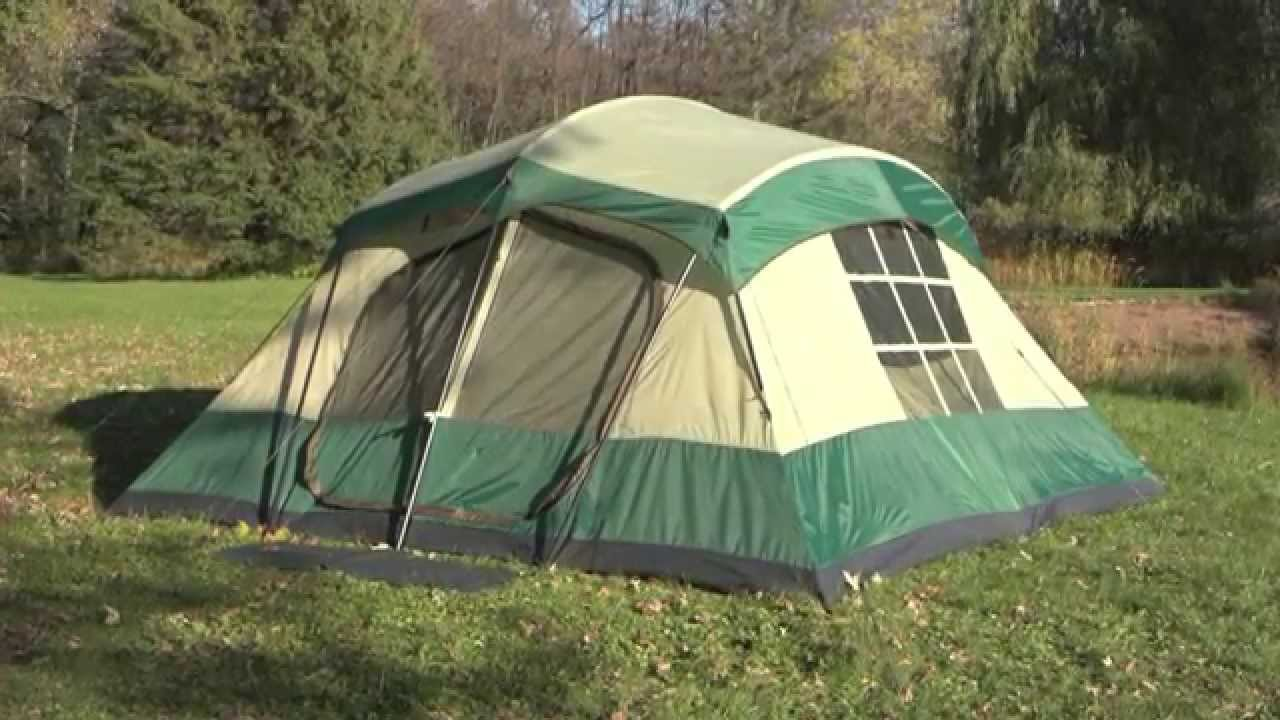 Guide Gear 13x13 Compass 12 Cabin Tent & Guide Gear 13x13 Compass 12 Cabin Tent - YouTube