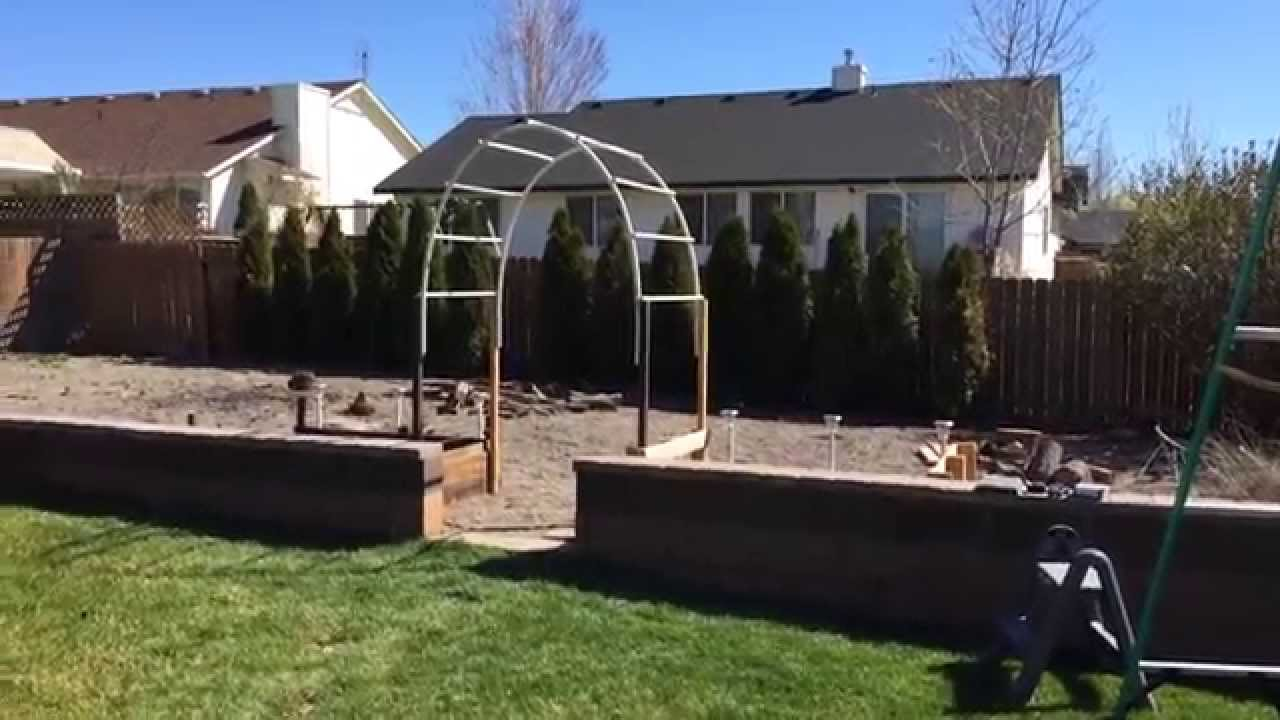 Simple Trellis Ideas Part - 39: Easy Build - Garden Arch Trellis - YouTube