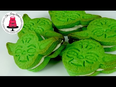 Star Wars Yoda Cookie Sandwiches - How To With The Icing Artist