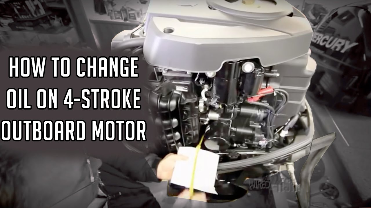 How To Change Oil On A 4 Stroke Outboard Youtube