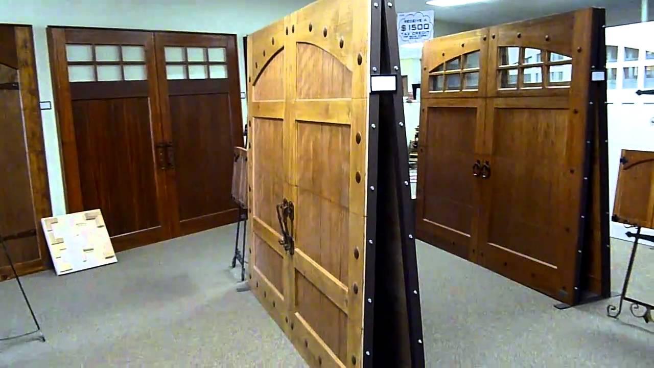 Access Custom Wood Garage Doors Showroom Youtube