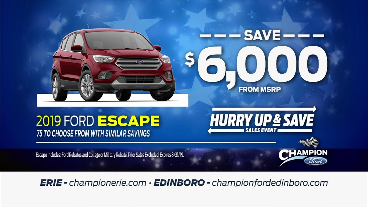 Champion Ford Erie >> Championerie