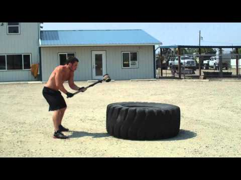 Panna 3 Cardio Workout with Explosive Pushups, Tire Flips, Sledgehammer Slams and Kettlebell Throws