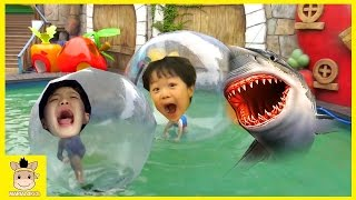 Indoor Playground Fun for Kids and Family Play Slide Rainbow Water Ball Jump | MariAndKids Toys