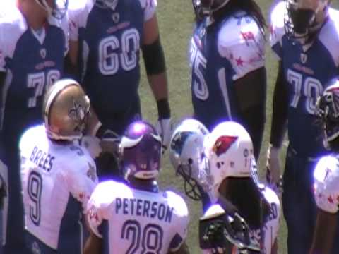 NFL Pro Bowl 2009 - NFC Huddle