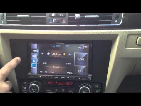 2008 BMW 328i custom installed a double din Pioneer AVIC-Z140BH