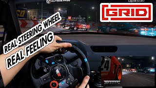 GRID 2019 Gameplay ✫ Night Race untra Graphic setting in cockpit view