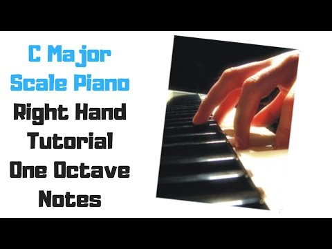 C Major Scale and Arpeggio Free Easy Piano Sheet Music Video Tutorial Lessons