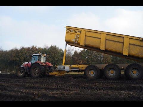 Grondtransport met Steyr CVT 6225 en Dewa MTM 33ton kipper Trekkerweb
