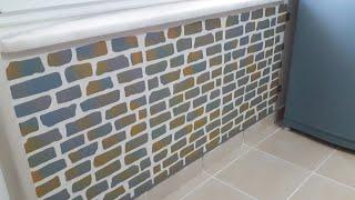 Taş Duvar Yapma - Duvara Stencil Uygulama - Tuğla Efekti