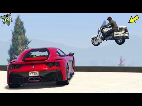 GTA 5 ONLINE 🐷 FERRARI VS MOTO DELLA POLIZIA  !!! 🐷 LTS 🐷N*279🐷 GTA 5 ITA 🐷 DAJE !!!!!!!