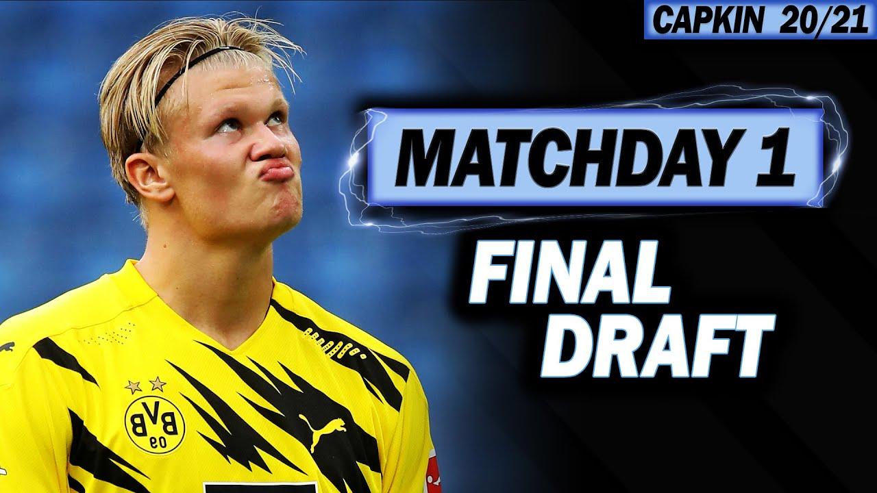 UCL - MATCHDAY 1 FINAL DRAFT? - CHAMPIONS LEAGUE FANTASY FOOTBALL - 2020/2021