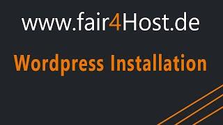 fair4Host | Wordpress Installation