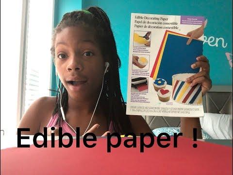 Eating Edible paper (ASMR) ❤️🤫
