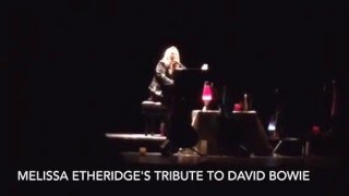 """Melissa Etheridge performs """"Heroes"""" as a tribute to David Bowie"""