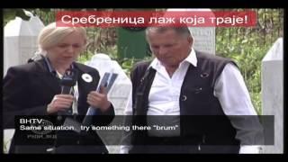 Laž koja traje - Kako se novinarka BHTV-1 priprema za intervju [ Srebrenica ] 11.07.2014