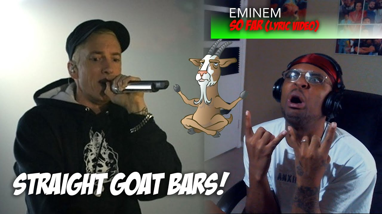 HE'S SO DETROIT!!! | Eminem - So Far (Lryric Video) *Reaction*