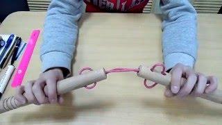 Как заменить веревку на нунчаках