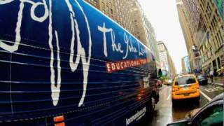 Live in New York City: Mont Blanc Lennon Bus Wrap