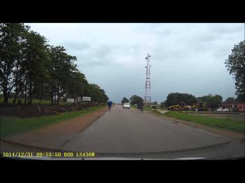 Dashcam - Lusaka, Zambia to Mfuwe, Zambia - 31 December 2014