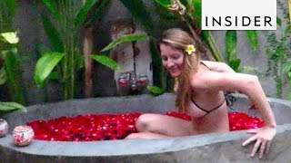 Bali Resort has Private Outdoor Stone Bathtubs