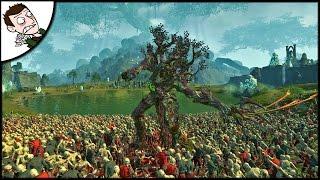 MASSIVE WOOD ELVES v 10000 ZOMBIES SURVIVAL BATTLE! Total War WARHAMMER  Gameplay!