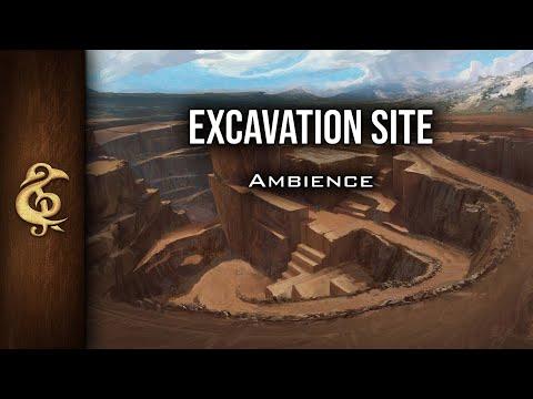 🎧 RPG / D&D Ambience - Excavation Site | Digging, Pickaxe, Shoveling, Work