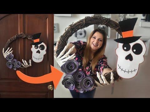 Corona de Calavera Día de Muertos / Halloween :: Chuladas Creativas :: Skull diy