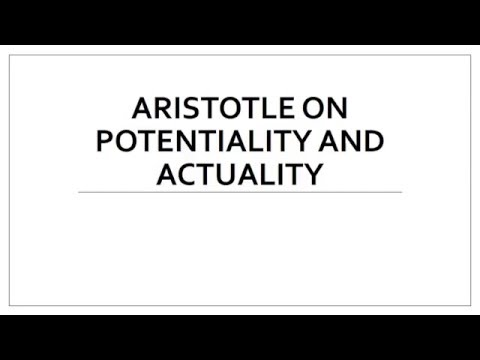 Aristotle on Potentiality and Actuality