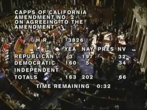Roll Call Vote on Amendments and Final Passage of H.R. 3826