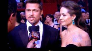 Angelina Jolie, Brad Pitt - red carpet interview at the Oscars in 2009