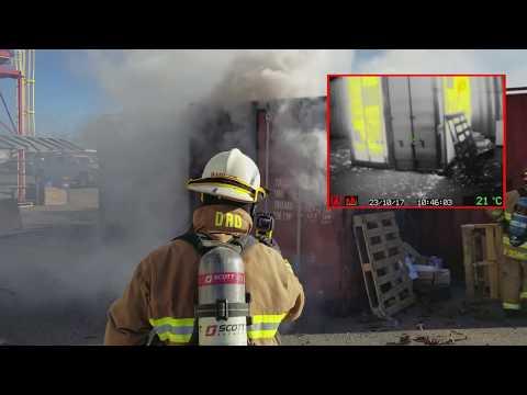 DSPA 5 Demo - Dry Sprinkler Powder Aerosol Fire Suppression System Test