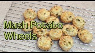 Mash Potato Wheels Fingerfood Video Recipe Cheekyricho