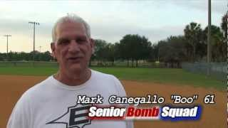 "Softball Hitting Tips.  Senior Bomb Squad 2 ""Swing Makeover Series, Episode #5"" Rotational Hitting"