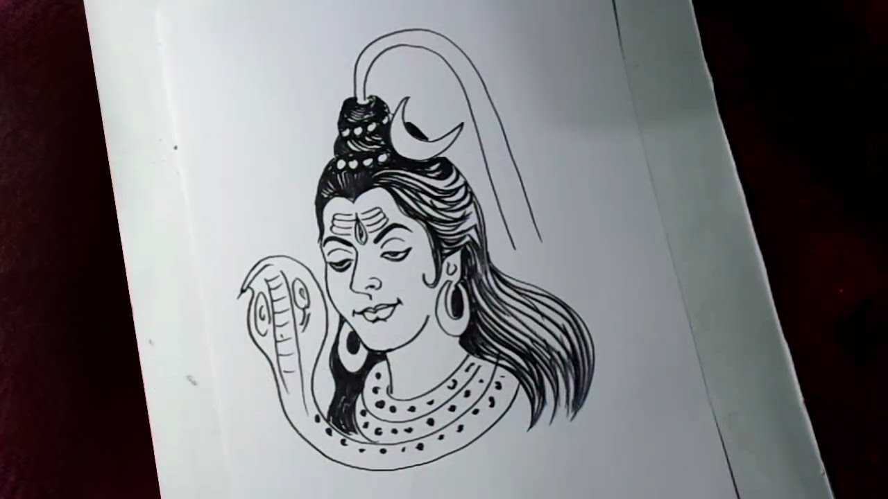 How to draw lord shiva simple drawing kids cartoon drawings