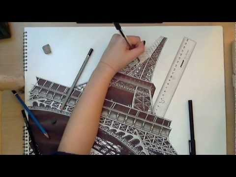 Realistic Drawing: The Eiffel Tower